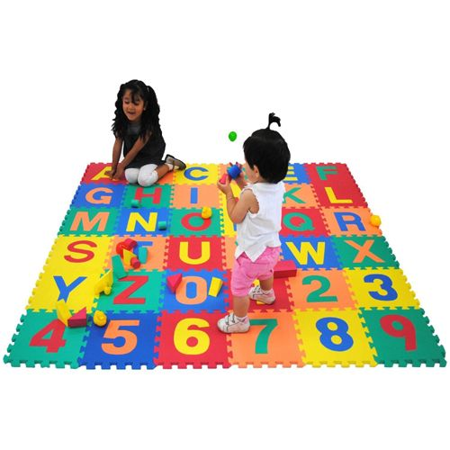 Jigsaw Play Mat Kids Alphabet Numbers Letter 15x15 Soft Foam